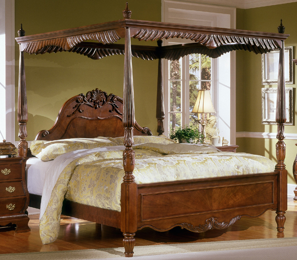 gallery for antique wood canopy beds